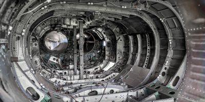 Inside of a engine bay